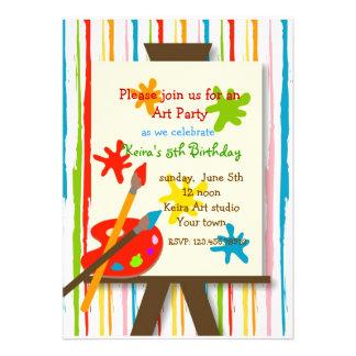 El arte hace invitaciones de la fiesta a mano de c comunicado