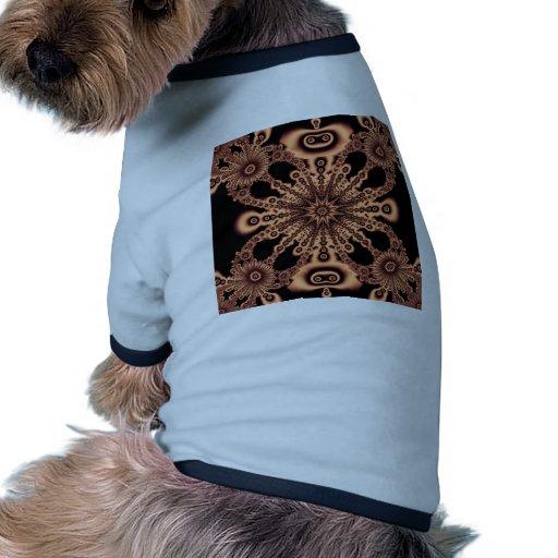 El arte hermoso de Digitaces de la pendiente flore Camiseta Con Mangas Para Perro