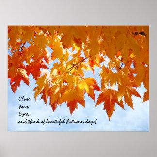 El arte hermoso de los días del otoño imprime arte impresiones