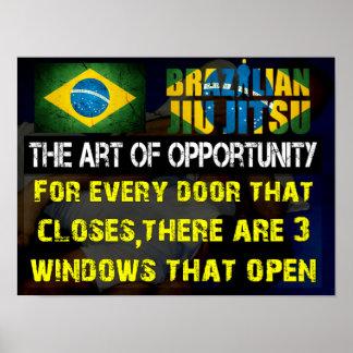 """""""El arte impresión de Jiu Jitsu del brasilen@o de  Póster"""
