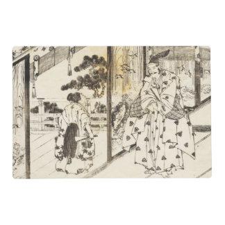 El arte japonés por Hokusai 1 doble echó a un lado Salvamanteles