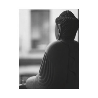 El arte Meditating de Buda Galería-Envolvió la imp Impresión En Lienzo Estirada