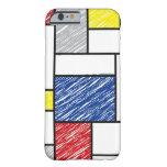 El arte minimalista de Mondrian de Stijl garabatea Funda De iPhone 6 Barely There