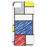 El arte minimalista de Mondrian de Stijl garabatea iPhone 5 Case-Mate Coberturas