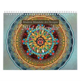 El arte moderno de la mandala diseña el calendario
