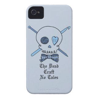 El arte muerto ningunos cuentos (fondo azul) Case-Mate iPhone 4 carcasa