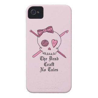 El arte muerto ningunos cuentos (fondo rosado) iPhone 4 cobertura