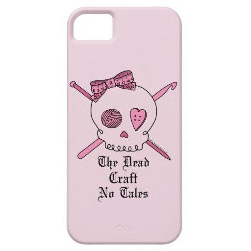 El arte muerto ningunos cuentos (fondo rosado) iPhone 5 funda