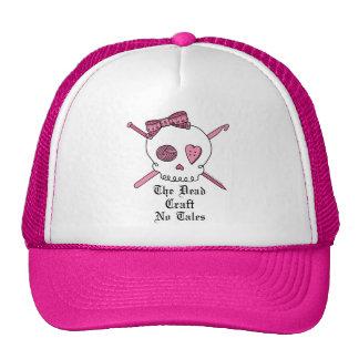 El arte muerto ningunos cuentos (rosa) gorro de camionero