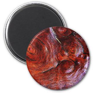 el arte natural de madera de la moda del estilo de imán redondo 5 cm