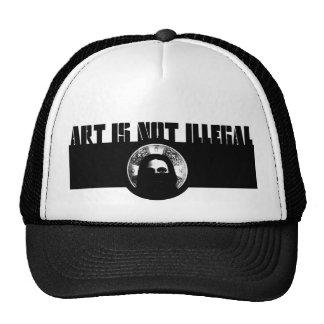 el arte no es logotipo ilegal gorros bordados