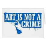 El arte no es un crimen felicitaciones