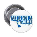 El arte no es un crimen pin