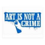 El arte no es un crimen postales