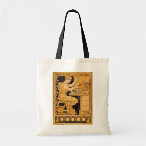 El arte Nouveau, amor del vintage conquista a todo Bolsa Tela Barata