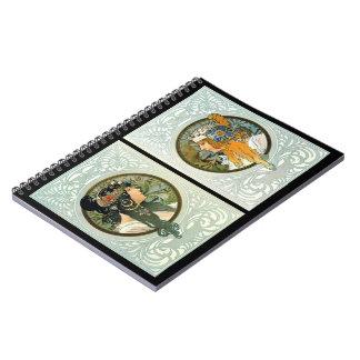 El arte Nouveau perfila 1895 Cuadernos