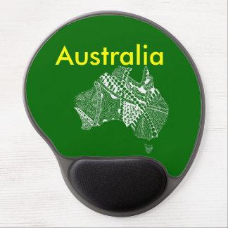 El arte original del mapa de Australia, elige su Alfombrilla Gel