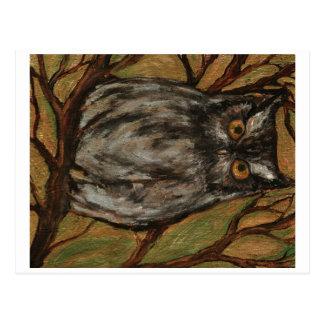 El arte original del pequeño búho del artista Lian Tarjetas Postales