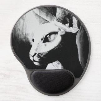 El arte original Mousepad del gato de Sphynx Alfombrillas Con Gel