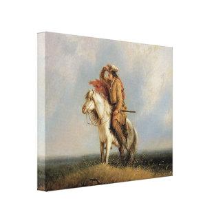 El arte perdido 1845 del vaquero del Greenhorn 3D Impresión En Tela