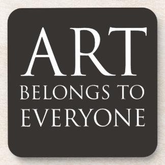 El arte pertenece a cada uno posavaso