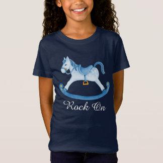 El arte pintado caballo mecedora lindo embroma la playera