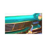 El arte pop clásico de la parte frontal del coche  impresion en lona