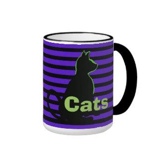 El arte pop de los gatos negros asalta taza de dos colores
