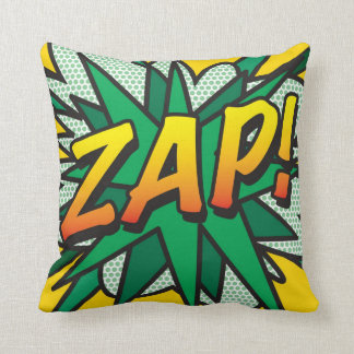 ¡El arte pop del cómic ZAP! ¡POP! Cojín Decorativo