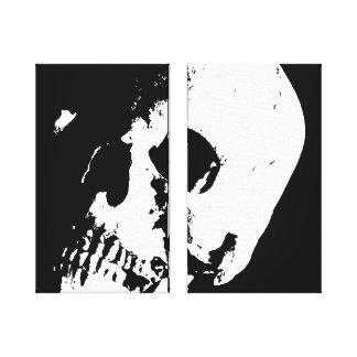 El arte pop del cráneo envolvió 2 lonas fijadas