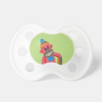 El arte pop del mono del calcetín añade el texto c chupetes para bebés