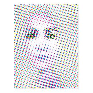 El arte pop inspiró el retrato postal