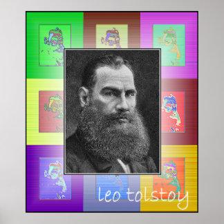 El arte pop León Tolstói Póster