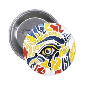 El arte pop observa el botón pin redondo de 2 pulgadas