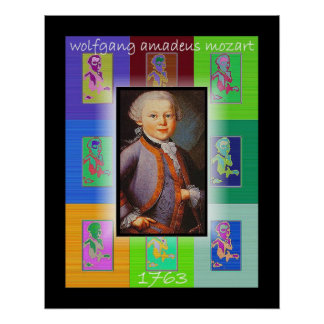El arte pop pequeño Mozart Posters