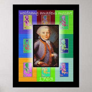 El arte pop pequeño Mozart Póster