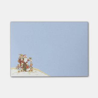 El arte popular lindo de Santa embroma los copos Notas Post-it®