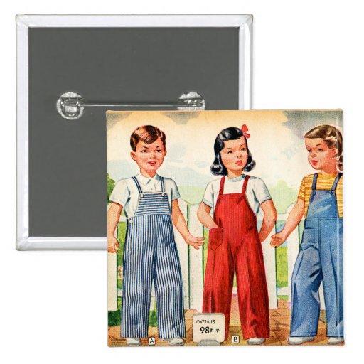 El arte retro del catálogo del kitsch 40s del vint pin cuadrado