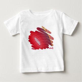 El arte rojo tuerce en espiral camiseta infantil playera