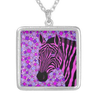 El arte rosado de la cebra raya la joyería del col