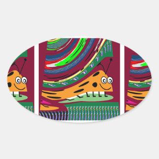 El arte SECRETO del insecto EMBROMA a señora Bug Calcomanías De Óvales Personalizadas