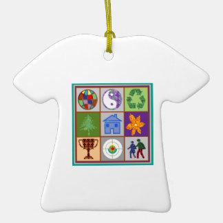 El ARTE SIMBÓLICO del cliente del revendedor de la Adorno De Cerámica En Forma De Camiseta