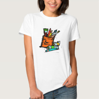 El arte suministra la camiseta del artista remera