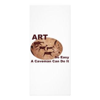 El arte tan fácil un hombre de las cavernas puede  lona