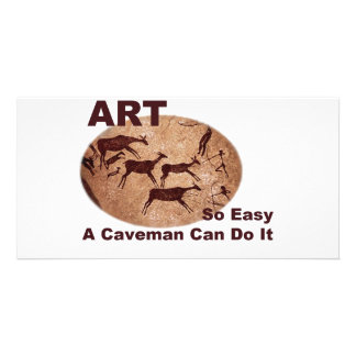 El arte tan fácil un hombre de las cavernas puede  tarjetas fotográficas personalizadas