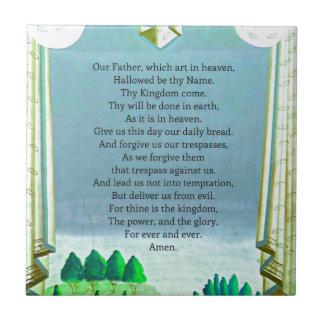 El arte temático de Prayer Christian del señor Azulejo Cuadrado Pequeño