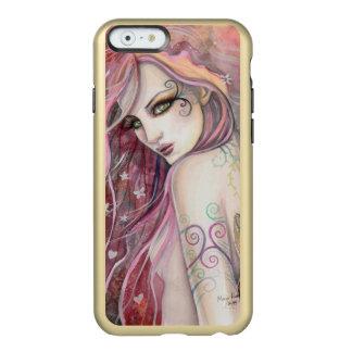 El arte tímido de la mujer de la fantasía del funda para iPhone 6 plus incipio feather shine