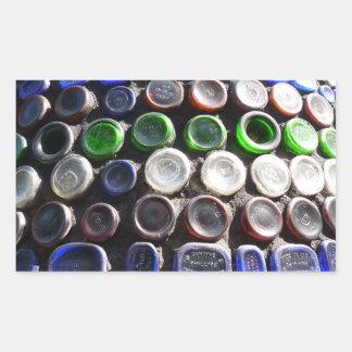 El arte Upcycled de la botella embotella fotogra Rectangular Altavoces