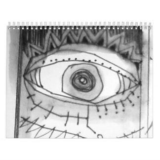 el arteology bosqueja 1995 calendario de pared