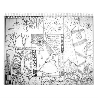el arteology bosqueja 1995 calendarios de pared